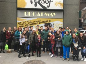 group outside theater